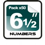 "6.5"" Race Numbers - 50 pack"